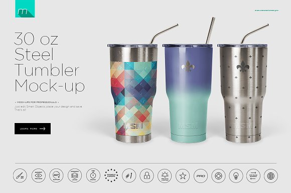 Download 30 oz Stainless Tumbler Mock-up