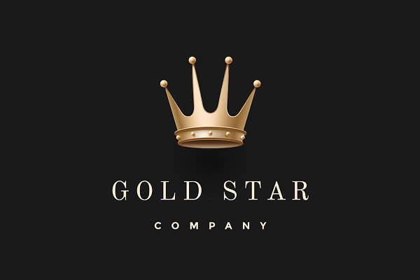 Gold king crown. Gold Star