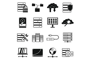 Database icons set