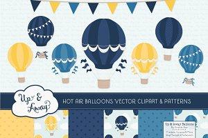 Navy & Lemon Hot Air Balloons