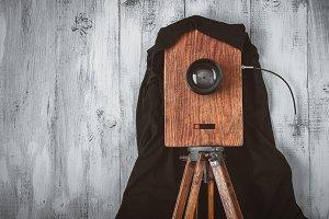 Old studio camera