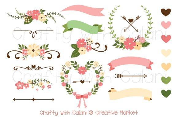 Pink Wedding Flower Clipart
