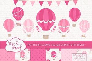 Shades of Pink Hot Air Balloons