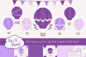 Shades of Purple Hot Air Balloons