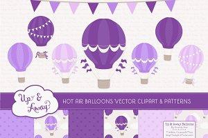 Shades of Purple Hot Air Balloons