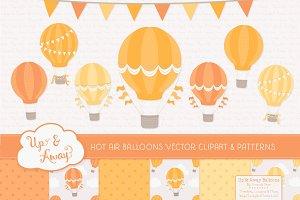 Shades of Yellow Hot Air Balloons