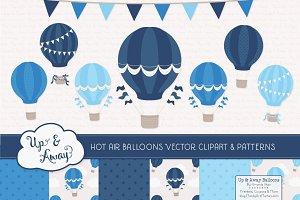 Shades of Blue Hot Air Balloons