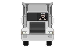 Truck driver. Vector