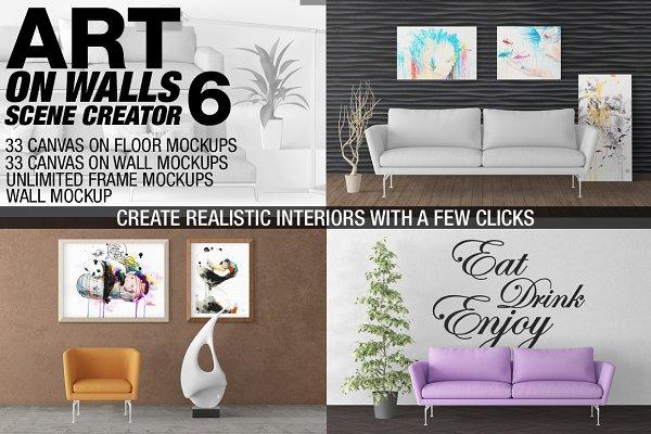 Canvas Mockups - Frames Mockups v 6