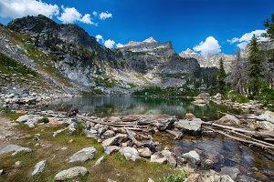 Pristine high mountain lake