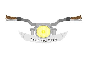 Motorcycle steering wheel. Vector