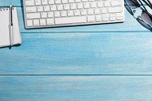 keyboard on table