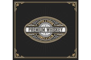 Premium Whiskey Label