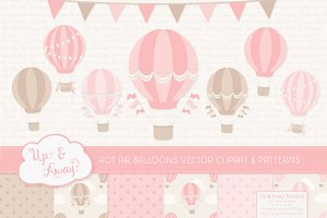 Pink Hot Air Balloons & Patterns