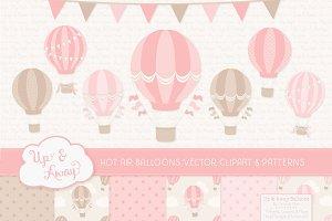 Pink Hot Air Balloons & Patterns
