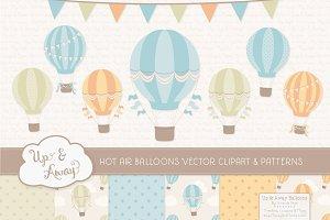 Vintage Boy Hot Air Balloons
