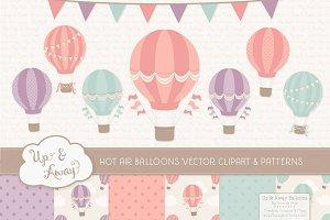 Vintage Girl Hot Air Balloons
