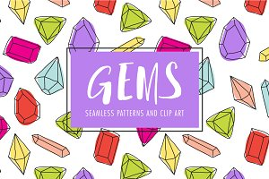 Gem Clip Art and Patterns