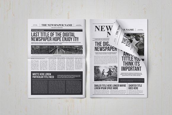 Classy Newspaper Indesign Template Magazine Templates Creative