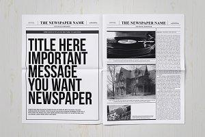 Classy newspaper indesign template magazine templates creative classy newspaper indesign template magazine templates creative market stopboris Choice Image