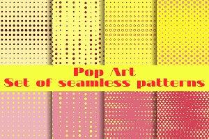 Pop Art seamless patterns