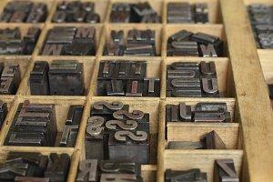 Metallic letterpress letters