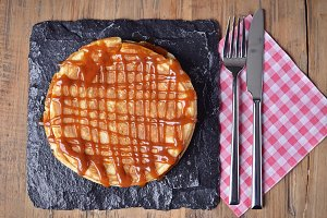 Pancake with salted caramel