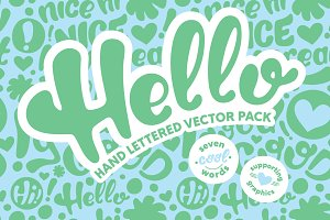 Hello Hand Lettered Vector Pack
