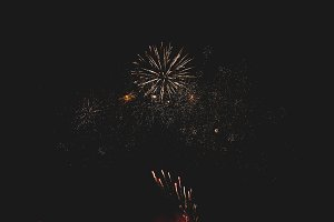 Fireworks in night sky 48