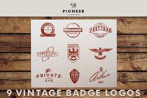 9 Vintage Badge Logos