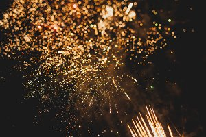 Fireworks with bokeh 39