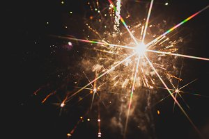 Fireworks in night sky 34