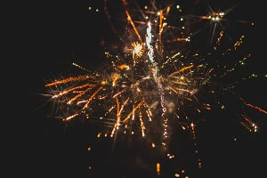 Fireworks in night sky 33