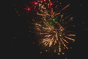 Fireworks in night sky 31