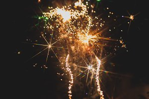Fireworks in night sky 29