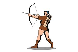 Archer Shooting Arrow