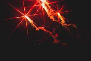 Fireworks in night sky 17