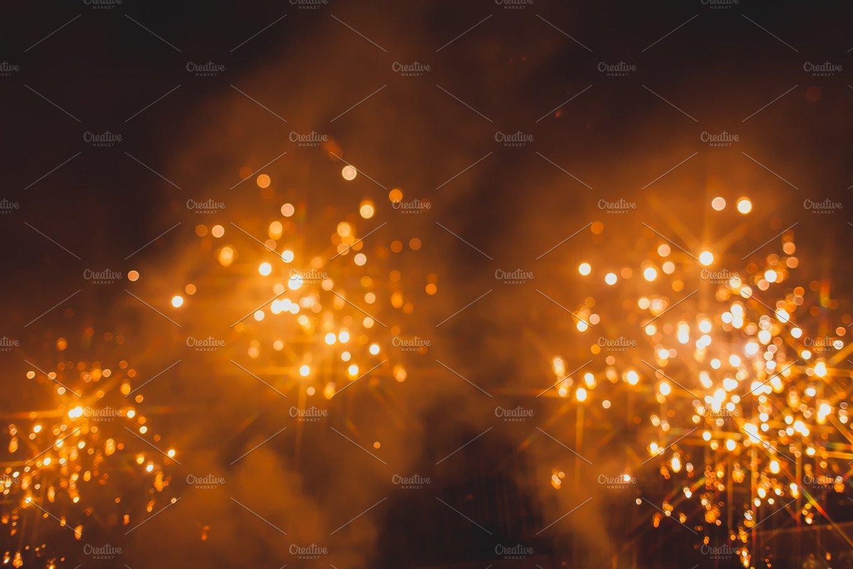 Fireworks bokeh backgr...
