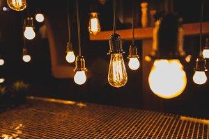 Edison style light bulbs