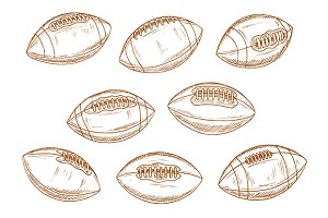 Balls of american football game