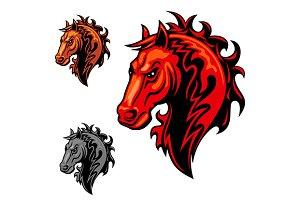 Flaming horse symbol
