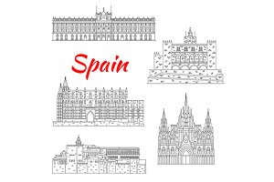 National Spain landmarks icons