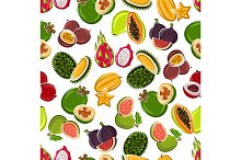 Exotic fruits background