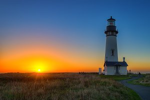 Beautiful Lighthouse Sunset