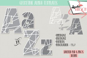 Geometric Alphabet Templates