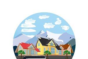 city landscape, vector illustration