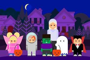 Vector Halloween Trick or Treaters