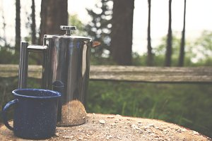 French Press in the Woods