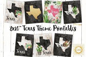 Texas Theme Printable Art