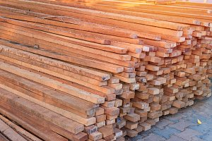 Firewood stacked up in a pile